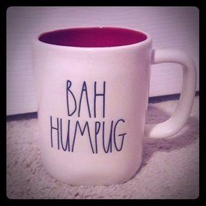Rae Dunn BAH HUMPUG mug w red inside.